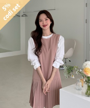 Hound Cotton Blouse + Boston Pleated Dress Women's Clothing Shopping Mall DALTT