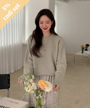Cash Hatchi Knit (50% Wool) + Like Flower Dress Women's Clothing Shopping Mall DALTT