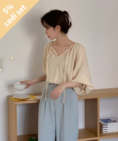 Brunch Cotton Blouse + Saddle Wide Slacks Women's Clothing Shopping Mall DALTT